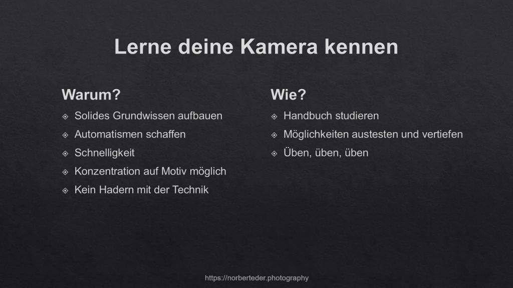 Kamera verstehen - Zusammenfassung