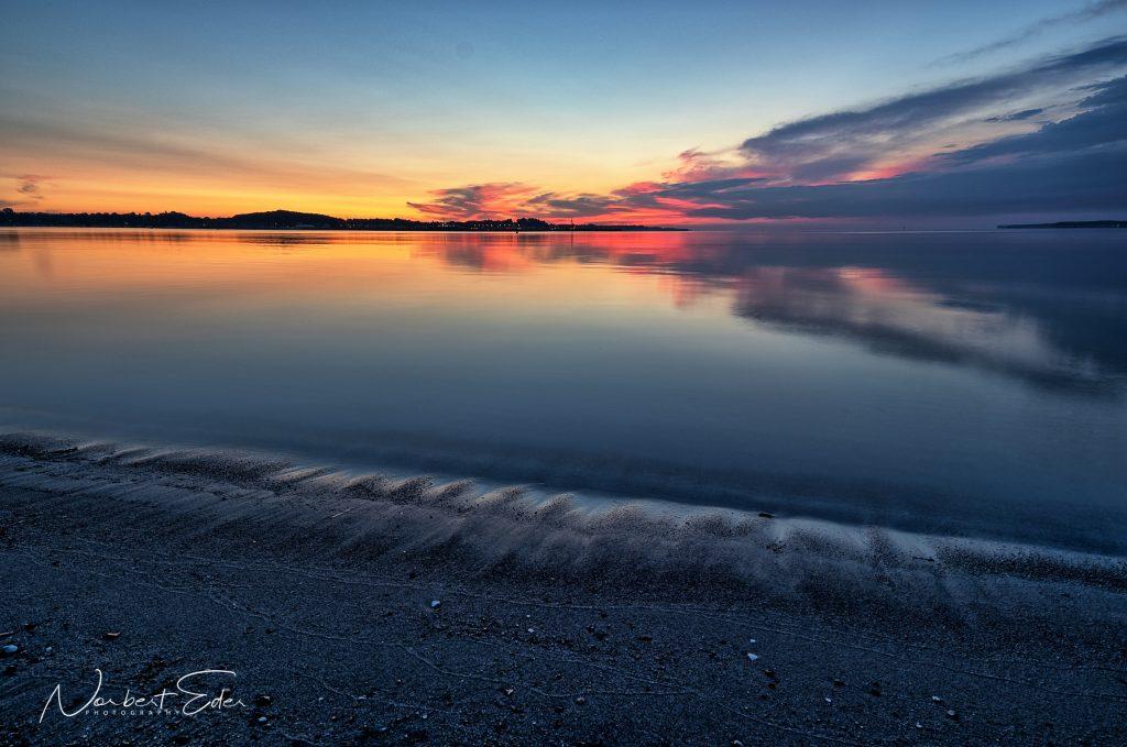 Sonnenaufgang an der Ostsee (Eckernförde)
