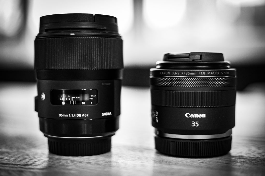 Sigma 35mm 1.4 Art   Canon RF 35mm 1.8 IS STM