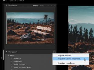Adobe Lightroom Classic CC - Vorgaben/Presets installieren - Norbert Eder Photography