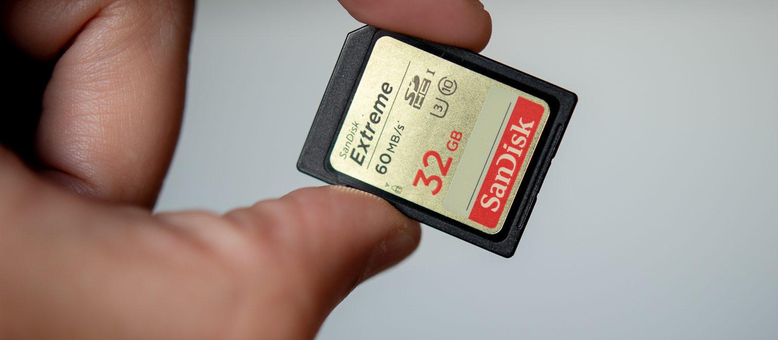 Sandisk Extreme 32GB - SD-Karte | Norbert Eder Photography