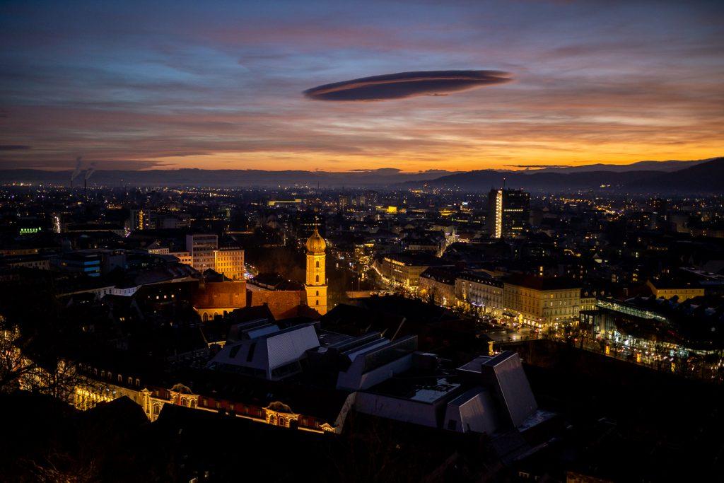Ufo über Graz | fotomontag | Norbert Eder Photography