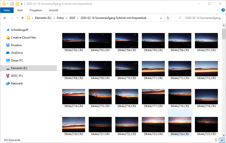 Windows 10 Explorer zeigt Fotos im Canon CR3-Format an