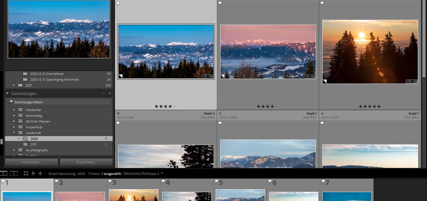 Lightroom: Per Smart-Sammlung Fotos thematisch ordnen